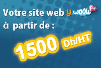 Votre site web a partir de 1500dh